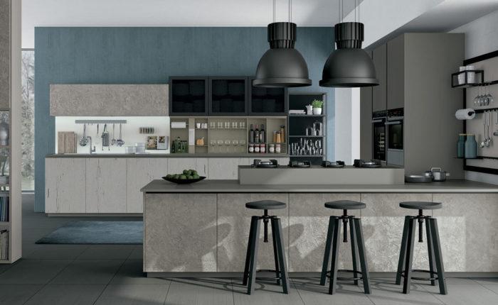 cucina industriale stile