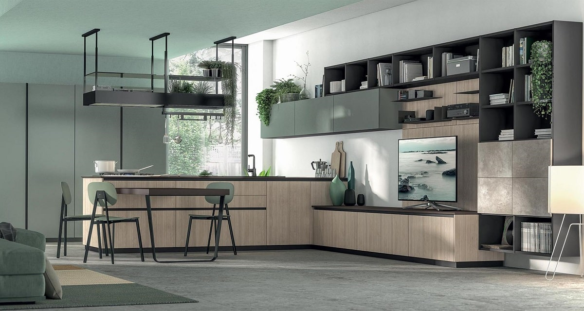 cucina verde Lube