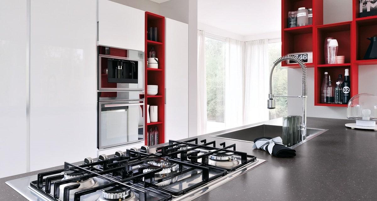 cuicina rossa Lube